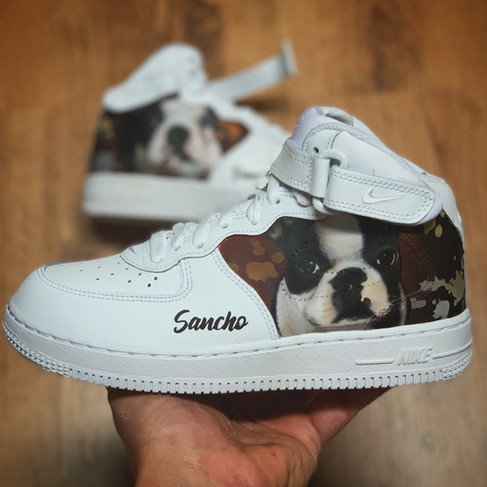 Dog Portrait Custom by Sneaker Surgery