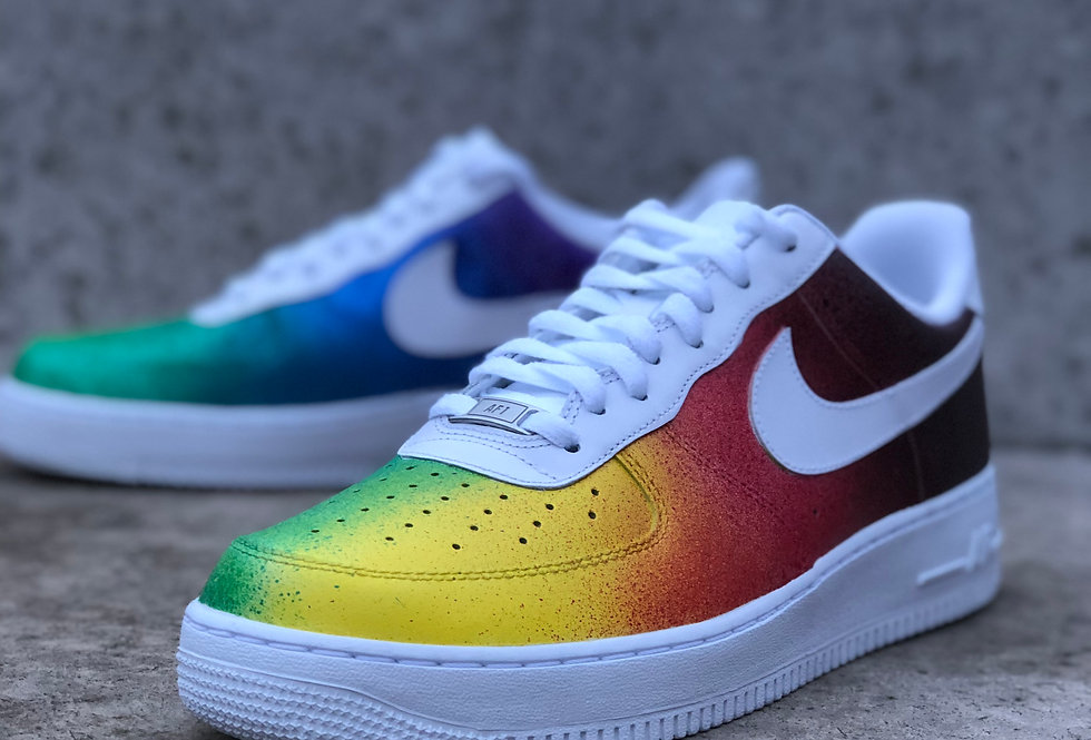 Rainbow Splash Air Force 1 Custom Sneaker