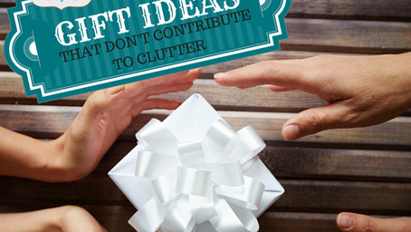 Gift Giving Ideas That Don't Contribute to Clutter