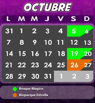 Calendario Bosque Magico 2019.Calendario 2019 Viajes Mensuales Castillo Tours