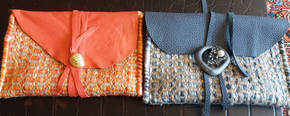 Bolsoa hechos a mano con kilim de la India