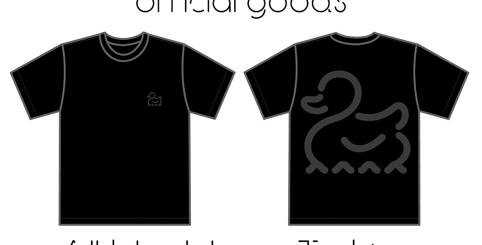 All black logo T-shirts