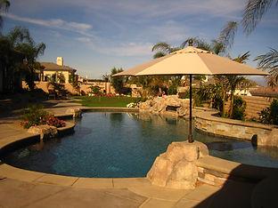 Custom in-ground swimming pool and spa in Corona, CA