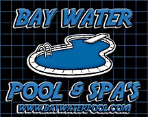 swimming pool contractor CA bay water logo