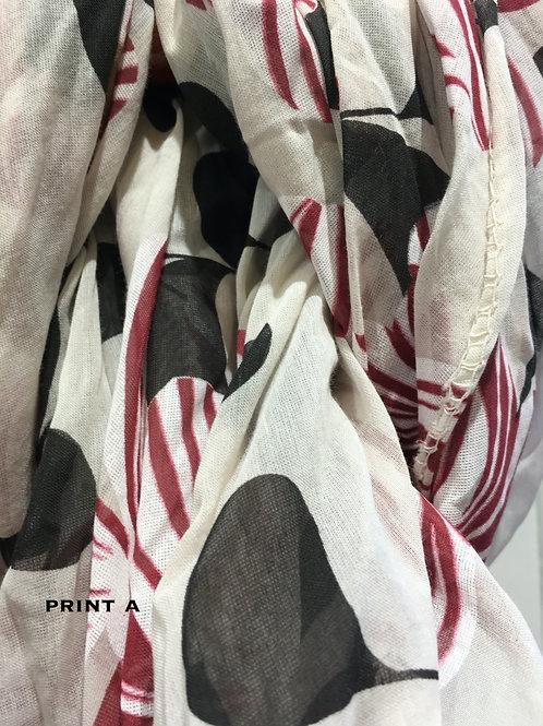 Cotton & Silk Scarves Design A