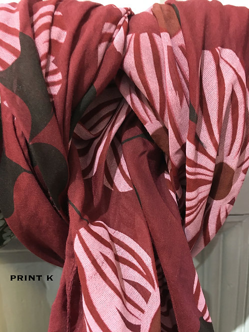 Cotton & Silk Scarves Design K