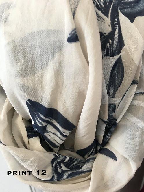 Cotton & Silk Scarves Design 12