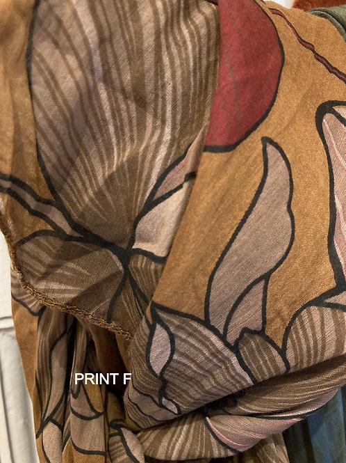 Cotton & Silk Scarves Design F