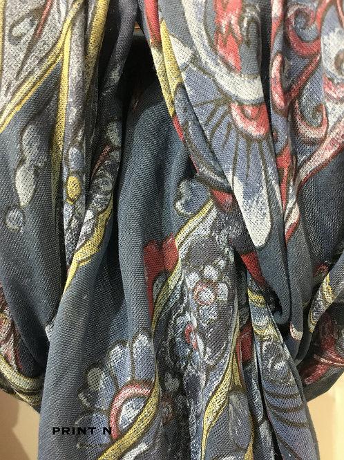 Cotton & Silk Scarves Design O