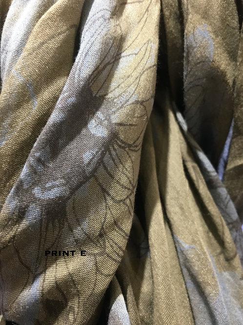 Cotton & Silk Scarves Design E