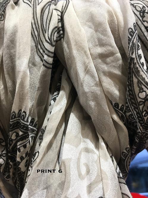 Cotton & Silk Scarves Design G