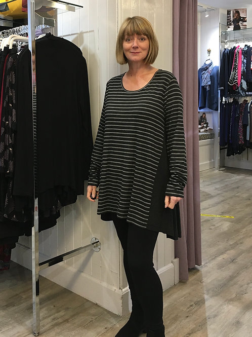 Marl Grey Stripe Tunic