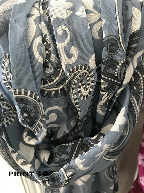 Cotton & Silk Scarves Design 10
