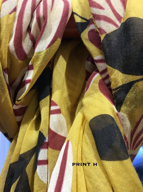 Cotton & Silk Scarves Design H