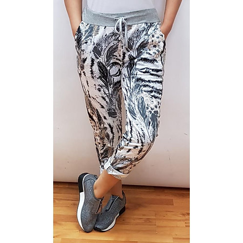 Feather Print Joggers