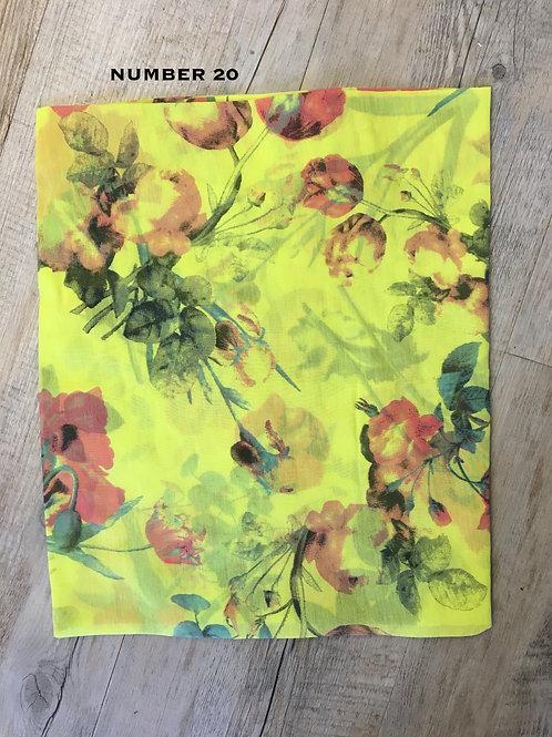 Cotton & Silk Scarves Design 20