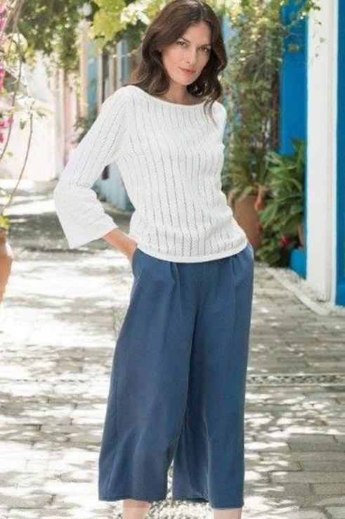 Navy Culottes