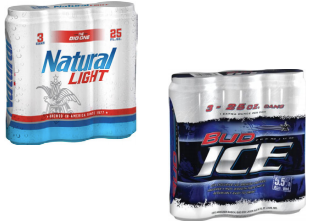 Natural Light/Bud Ice 3pk