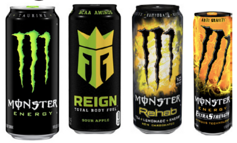 Monster/Reign/Rehab/Maxx 12-16oz