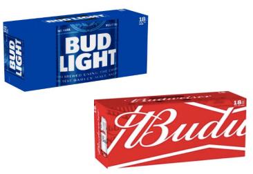 Bud/Bud Light 18pk