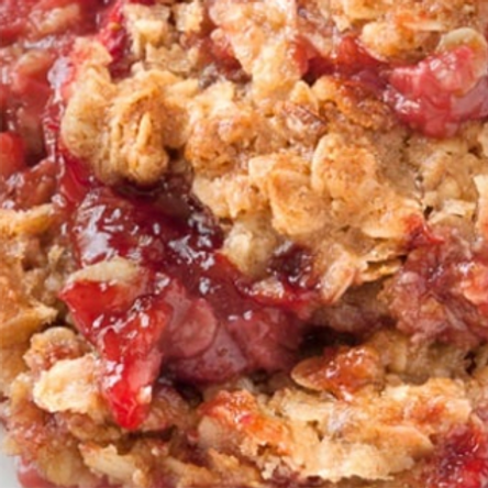 Strawberry Rhubarb Crisp Strudel