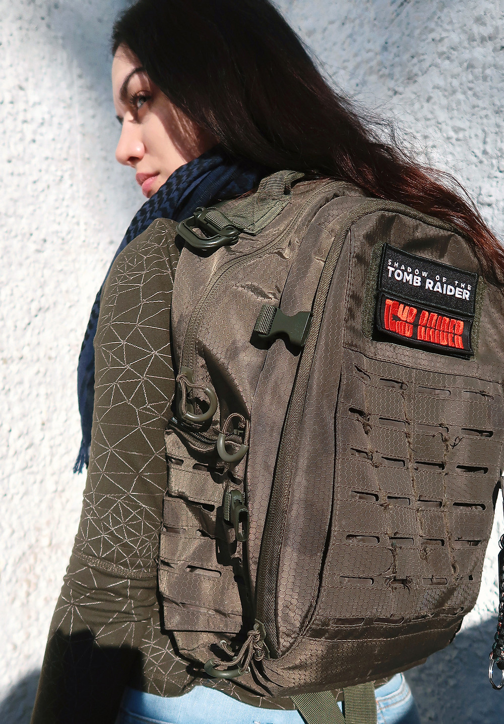 Tomb Raider Movie promotional backpack - Jade Sura