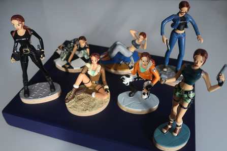 Tomb Raider collectable figurines and Lara Croft figurine collection