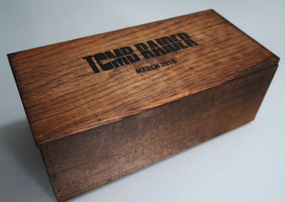 Tomb Raider promotional movie puzzle presskit and other Tomb Raider collectables