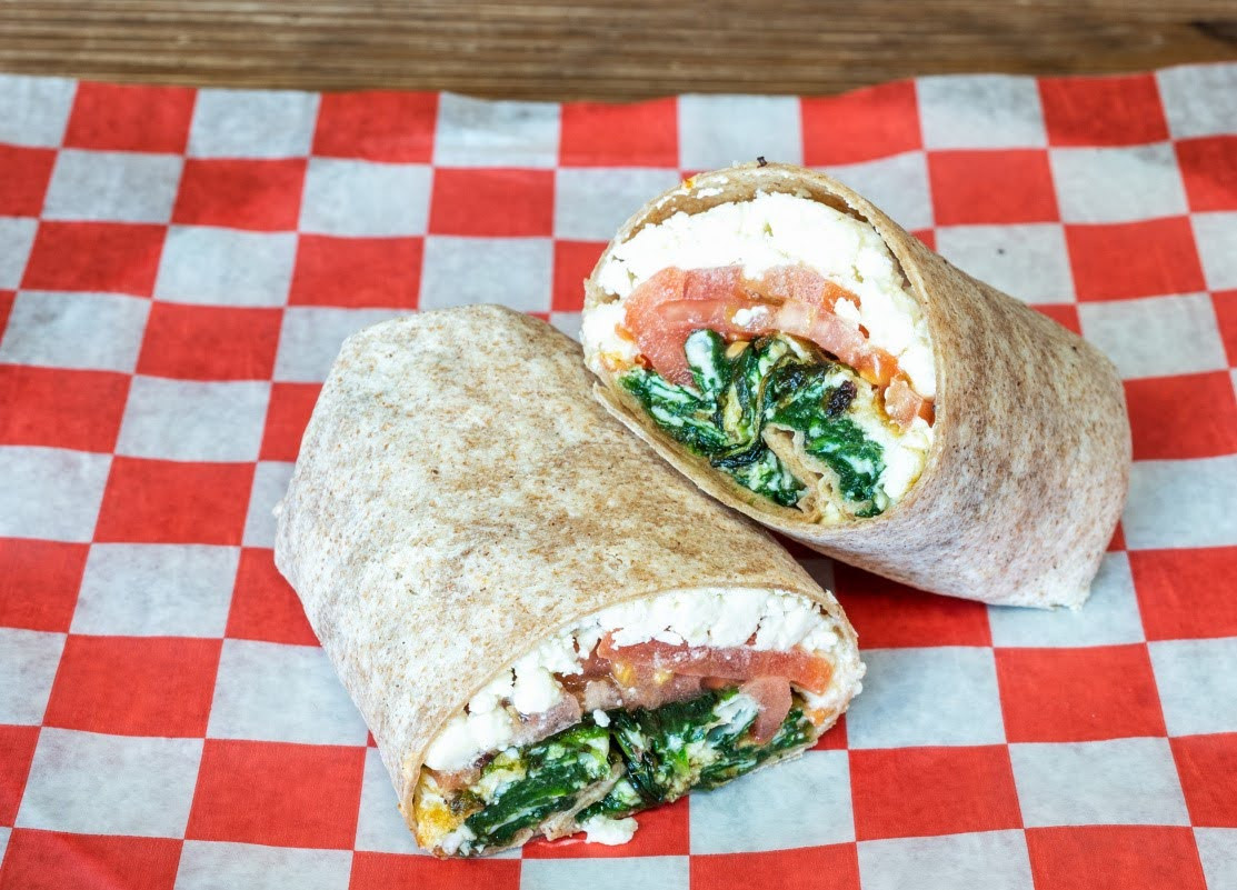 R16 Spinach Feta Egg Wrap