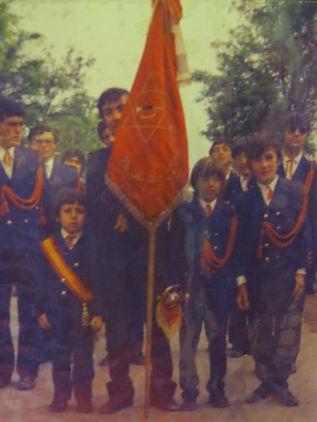 Banderín original y primeros uniformes