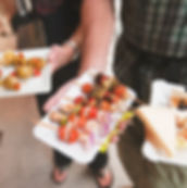 Canapes on trays