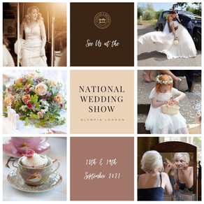 See us at the National Wedding Show in London, Olympia on 18th & 19th September 2021. Stand D26.