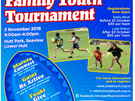 6th Annual Pasifika Choice Family Touch Tournament