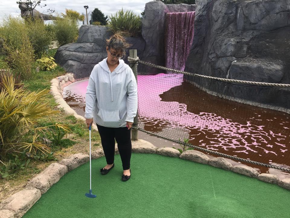 Dinosaur-themed mini golf