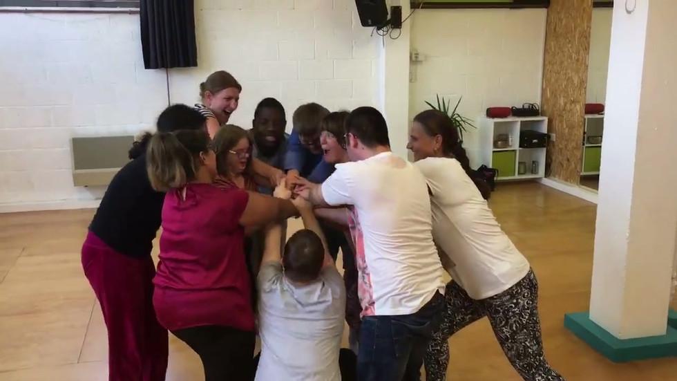 Having fun in dance class