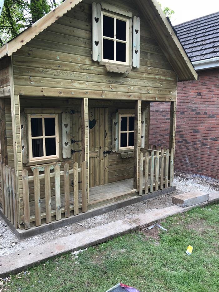 Custom built playhouse