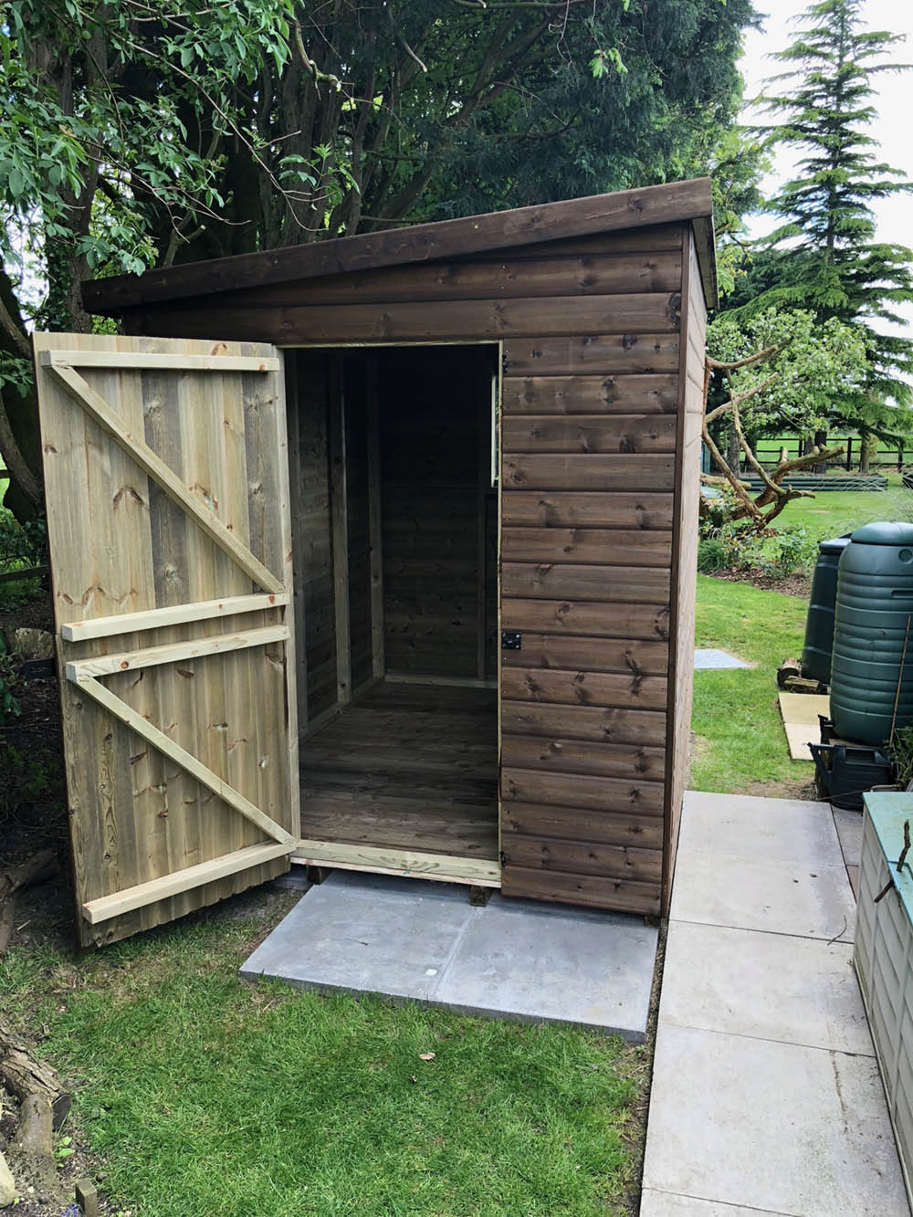 8x6 pent shed 2