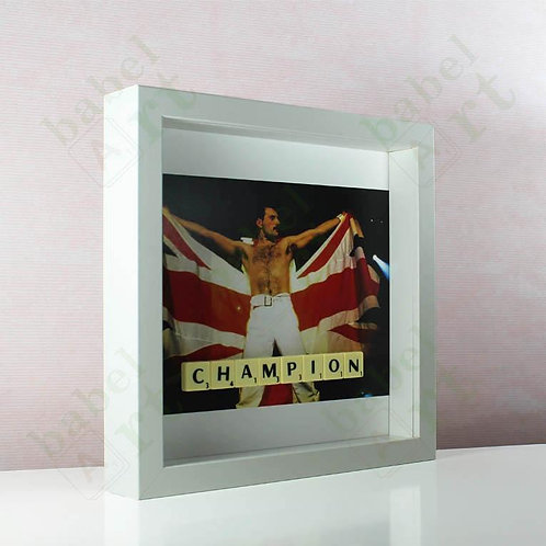 Freddie Mercury - Champion - British Flag