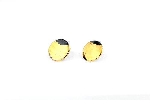 """Black Gold Earrings N°4- """"Ambiguous"""" Collection"""