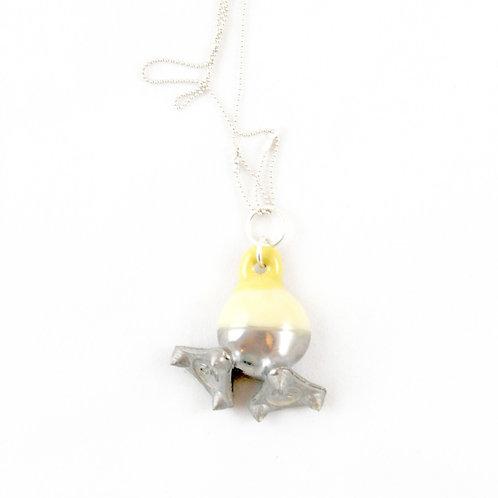 La Traviata Pendant yellow and silver