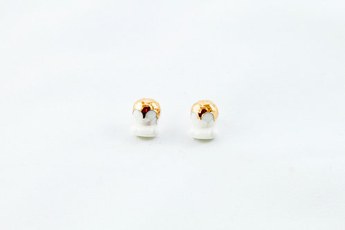 Queens Gold, white gold Bud earrings