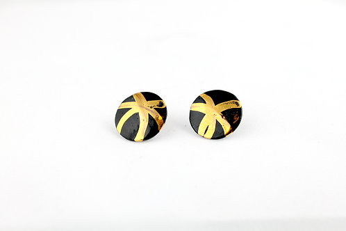 """Black Gold Earrings N°9- """"Ambiguous"""" Collection"""