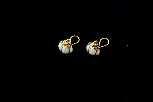 Queens Gold, white gold ear clips