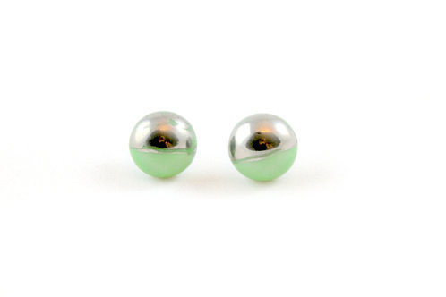La Traviata Earrings green and silver