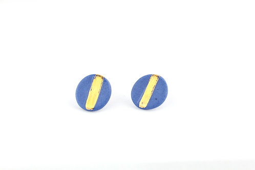 """Cobalt Gold Earrings N°6 - """"Ambiguous"""" Collection"""
