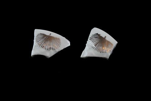 "Silver Leaf Earrings N°1- ""Broken Collection"""