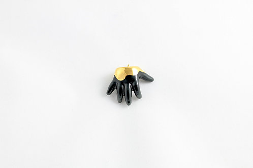 Black & Gold Baby Hand Pendant