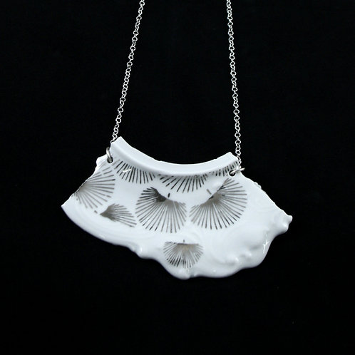 "Silver Leaf Necklaice - ""Broken collection"""
