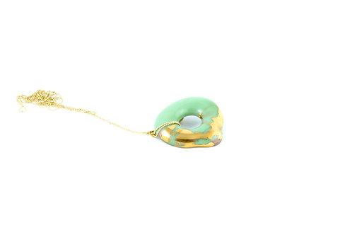 La Traviata Pendant green and gold