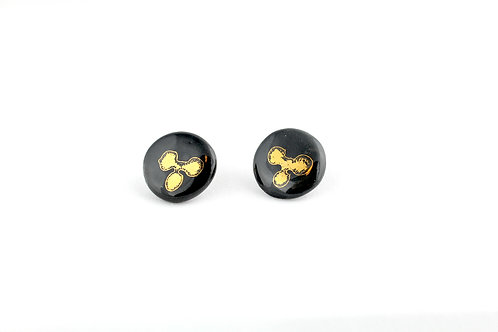"Black Gold Earrings N°3- ""Ambiguous"" Collection"